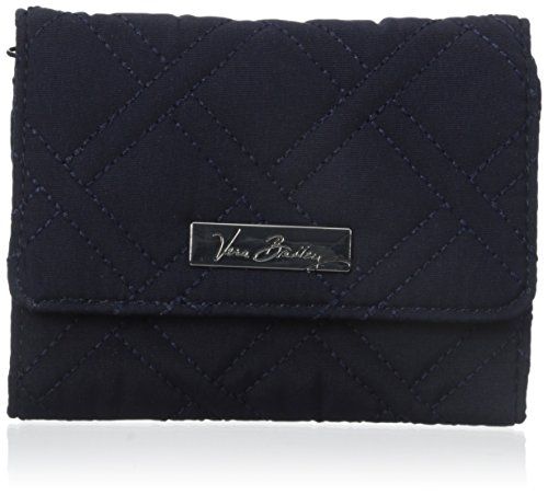 Vera Bradley Petite Wallet 3 Trifold, Classic Navy, One Size (Bills Petite Purse)