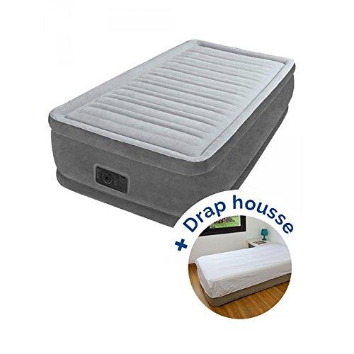 Pack Colchón hinchable Intex Comfort Plush Fiber-Tech 191 x ...