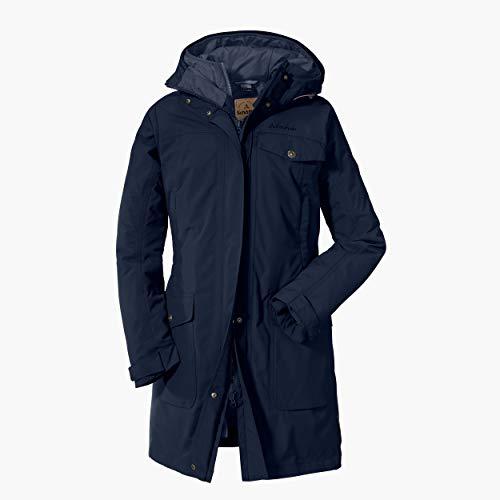 Schöffel Damen 3in1 Jacket Storm Range L1 wasserdichte Winterjacke mit herausnehmbarer Inzip Innenjacke, atmungsaktive und warme Regenjacke