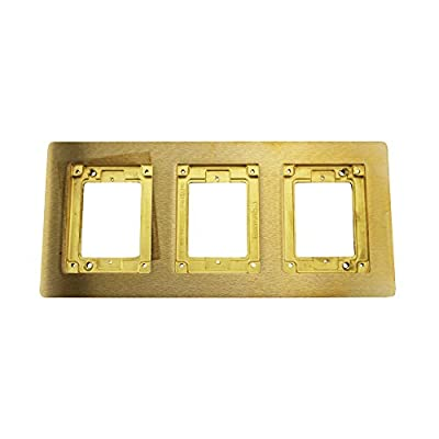 Wiremold Walker Legrand 837B 3-Gang Combination Carpet & Tile Flange, Brass