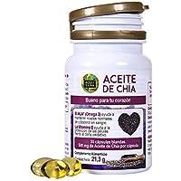 Chiaöl für einen gesunden Organismus – Nahrungsergänzungsmittel in Kapseln mit 100% natürlichem Chia – Chiasamen Extrakt mit Omega 3, 6 und 9 und Vitamin E – 30 Chia-Diätkapseln