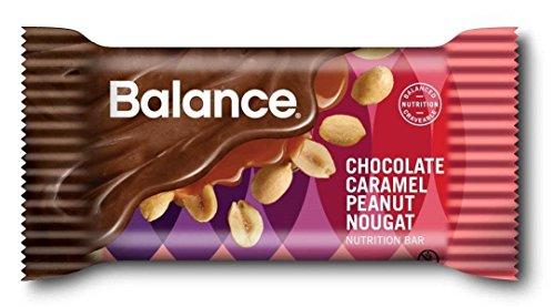 Chocolate Peanut Nougat (Balance Chocolate Caramel Peanut Nougat, 22 gram mini bars, 10)