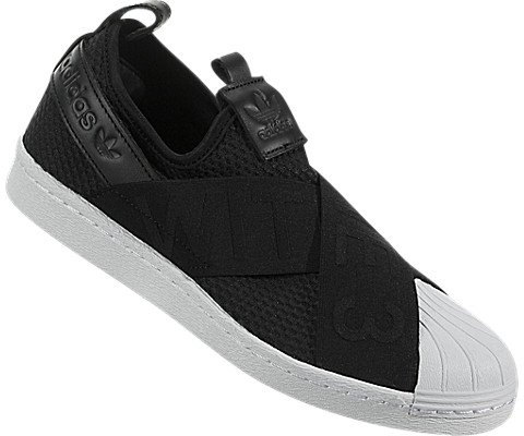 Adidas Originals Women's Superstar Slipon W Sneaker, Core Black/Core Black/White, 6 M US