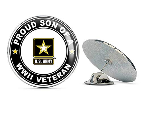 U.S. Army Proud Son of a World War II Veteran Metal 0.75