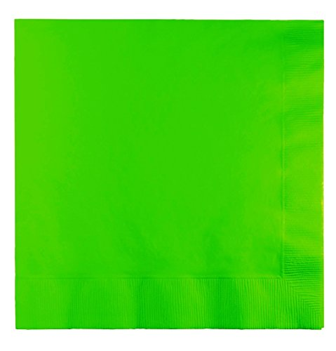 Creative Converting Touch of Color 2-Ply 50 Count Paper Beverage Napkins, Fresh Lime ()