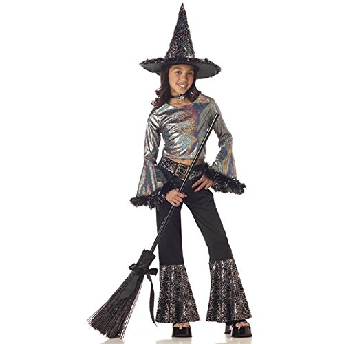 Child's Hip Witch Halloween Costume ( Size: Large (Witch Costume With Pants)