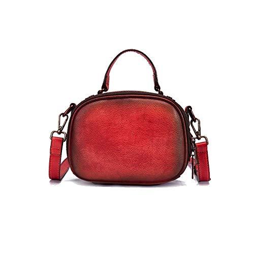 colore Borsa stile moda mano da fatto semplice donna rosso retrò diagonale a a8OwFxnA8q