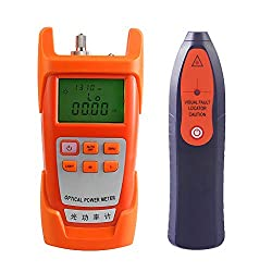 B Blesiya Aua 9c Fiber Optic Cable Tester Optical Power Meter With Sc Fc Connector Fiber Tester 10mw Visual Fault Locator Equipment For Catv Test Cctv Test