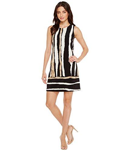 [ヴィンスカムート] Vince Camuto レディース Sleeveless Linear Terrain Shift Dress ドレス Rich Black 2 [並行輸入品]