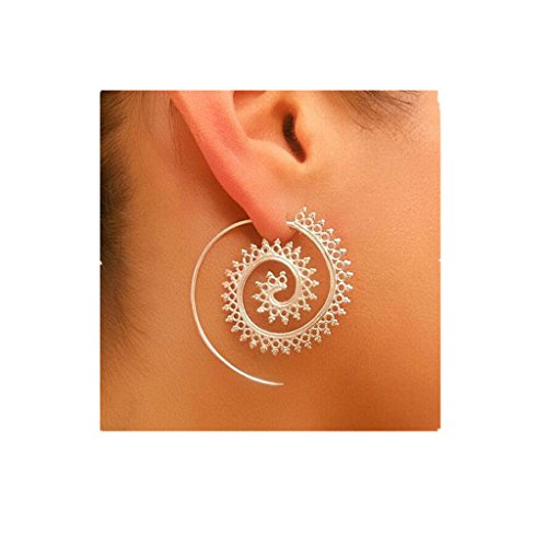 Deals (Clearance Deal! Hot Sale! Earring, Fitfulvan 2018 Fashion Vintage Earring Women Party Earrings Jewelry Accessories Mother's Day Gifts Earrings Jewelry (Silver))