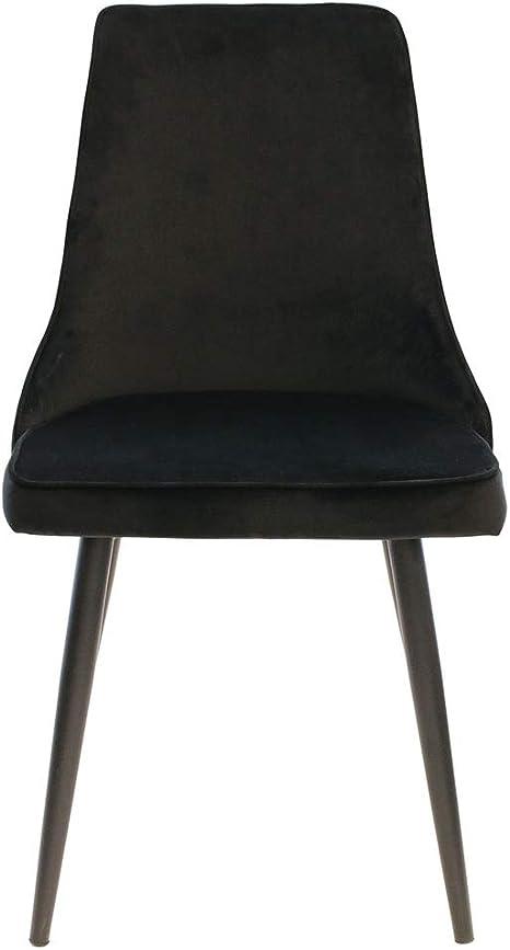 46 x 86 x 59 cm tessuto The Home Deco Factory HD6350 Set di 2 sedie in velluto Holm nero