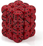 DND Dice Set-Chessex D&D Dice-12mm Opaque Red and Black Polyhedral Dice Set-Dungeons and Dragons Dice Incl