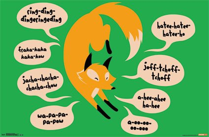What Does the Fox Say Music Song Lyrics Novelty Humor Poster Print