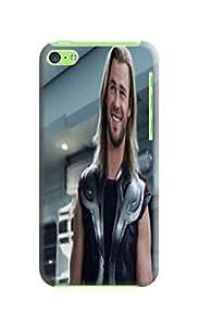 custom Cool Chris Hemsworth Thor fashionable Protective Hard TPU phone Cover Case for iphone 5c + fashion photo designed