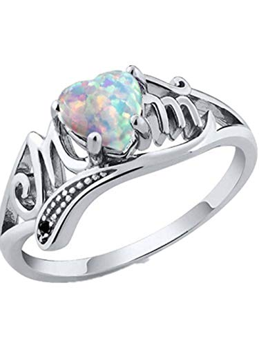 Womens Engagement Wedding Rings Floral Transparent Diamond Flower Vine Leaf Eternity Promise Ring