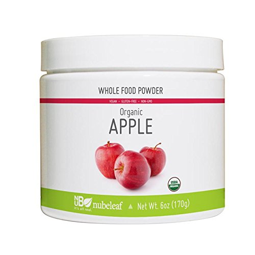 Nubeleaf Apple Powder - Non-GMO, Gluten-Free, Raw, Organic, Vegan Source of Essential Vitamins & Minerals - Single-Ingredient Nutrient Rich Superfood for Cooking, Baking, Smoothies (6oz)
