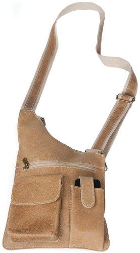 David King & Co. Cross Body Bag Distressed, Tan, One Size (David King Distressed Leather)