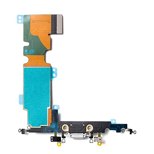 Afeax Compatible with Apple iPhone Charging Port Dock Connector Flex Cable + Microphone + Cellular Antenna + Vibration Motor Connector Replacement for 8 Plus 5.5