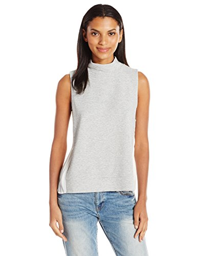 french-connection-womens-sudan-sunray-top-light-grey-melange-summer-white-xs