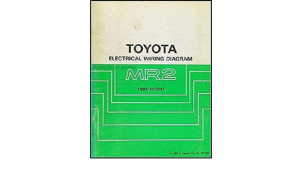 1985 Toyota MR2 Wiring Diagram Manual Original: Toyota ... on toyota sienna wiring diagram, toyota sequoia wiring diagram, toyota echo wiring diagram, toyota mr2 engine diagram, toyota camry wiring diagram, toyota highlander wiring diagram, toyota 4runner wiring diagram, toyota mr2 radio wiring, toyota celica wiring diagram, toyota land cruiser wiring diagram, toyota prius wiring diagram, toyota matrix wiring diagram, toyota truck wiring diagram, toyota tundra wiring diagram, toyota tacoma wiring diagram, toyota rav4 wiring diagram, toyota corolla wiring diagram, toyota t100 wiring diagram, 1993 toyota pickup wiring diagram, toyota mr2 parts diagrams,
