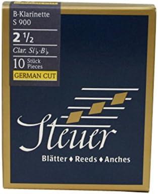 Steuer - Canas Clarinete En Sib Blue Line S900, corte alemán, caja de 10, fuerza 2 1/2: Amazon.es: Instrumentos musicales