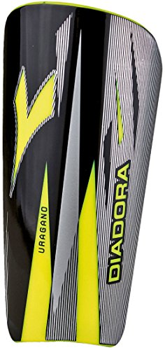 Diadora Uragano Hardshell Soccer Shin Guards with Sleeves