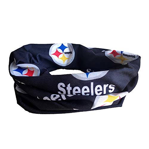 Gloral HIF Sports Face Mask Headscarf Pittsburgh Steelers Football Outdoor Multivariant Scarf Helmet Liner Microfiber Polyester Multifunctional Seamless Headwear