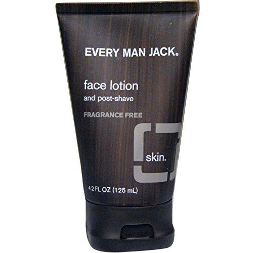 Every Man Jack, Face Lotion, Fragrance Free, 4.2 fl oz (125 ml) - 2pc