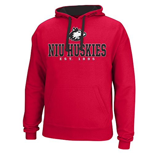 J America NCAA Northern Illinois Huskies Men's Logo School Name Foundation Hoodie, Medium, ()