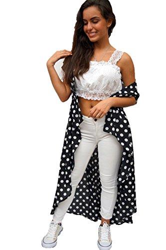 Live 4 Truth - Women's Polka Dot Print Kimono Cover Up, X-Large ()