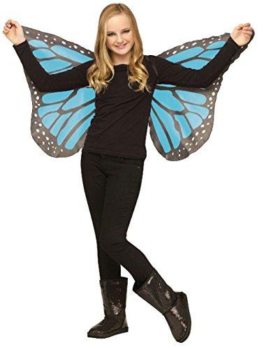 Fish Finger Fancy Dress Costume (Soft Monarch Butterfly Wings Girl Halloween Costume Accessory Orange Blue Purple)