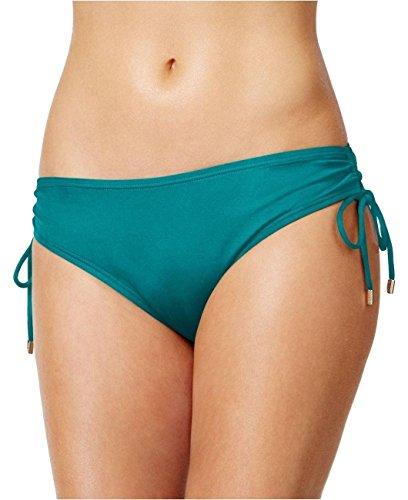 Calvin Klein Women's Side-Tie Hipster Bikini Bottoms, Mediterranean Blue, (Side Tie Hipster Bikini Bottoms)