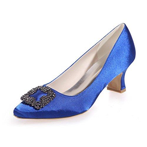 L@YC Frauen Hochzeit Schuhe Seide 0723-05 Spitze / Party Nacht & Frühling Sommer Herbst Winter Blue