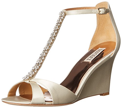Badgley Mischka Kvinna Romantik Wedge Sandal Elfenben