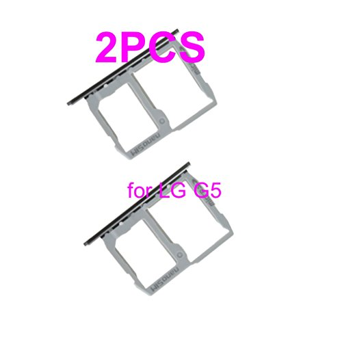 Silver SIM & Memory Card Tray SIM Card Holder Replacement for LG G5 H820 H830 H850 VS987 LS992 US992 RS988 + PHONSUN Portable Cellphone Holder by PHONSUN (Image #1)