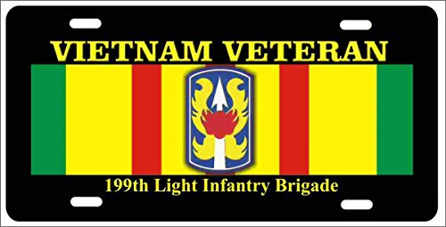 ATD Vietnam Veteran 199th Light Infantry Brigade Novelty License Plate Decorative Vanity car tag