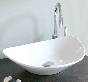 WS Bath Collection Above Counter Ceramic Oval Washbasin 16.5