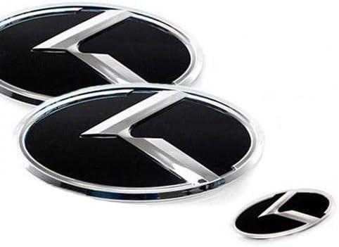 3D K Logo Black Emblem 7pc SET Fits: KIA 2018+ Stinger