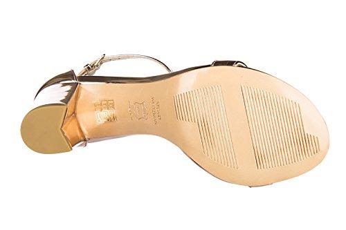 Stuart Weitzman sandali donna con tacco pelle beige