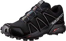 Salomon Speedcross 4 W, Zapatillas de Trail Running para Mujer, Negro (Black/Black/Black Metallic), 40 EU