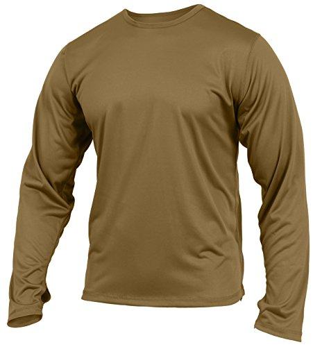 Rothco Gen III Silk Weight Underwear Top, AR 670-1 Coyote Brown, 2XL (Iii Long Sleeve T-shirt)