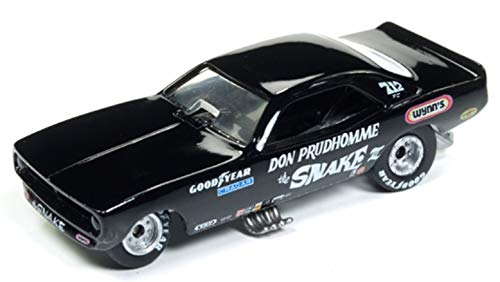 Racing Champions 1973 Plymouth Cuda Funny Car The Snake III Don Prudhomme Black Limited Edition to 3, 200Piece Worldwide 1/64 Diecast Model Car