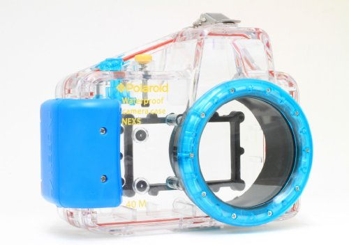 Polaroid Dive Rated Waterproof Underwater Housing Case For Sony Alpha NEX-5 Digital Camera WITH A 16mm Lens