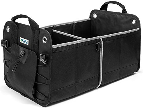 HomePro Goods Heavy Duty Car Trunk Organizer By, Sturdy Storage for Travel, Groceries and Gear, Black