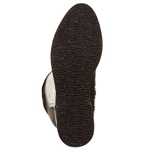 HE101 donna Stivale pelle Noir 39 Cafè lycra scarpe e in wqnAHFn