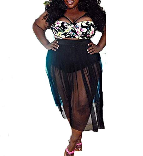 Popular Women's Plus Size Swimwear High Waist Bikini Cruise Wear SwimsuitGreat,(US10-12) XL,Skirt ()