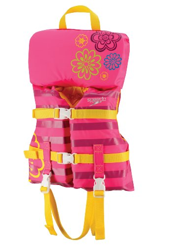 Speedo Infant Personal Flotation Device, Pink Flowers, 30-Pound