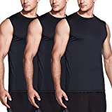 TSLA Men's (Pack of 1, 3) R Neck Sleeveless Muscle Tank Performance Dry Top
