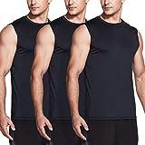 TSLA Men's (Pack of 1, 3) R Neck Sleeveless Muscle Tank Performance Dry Top