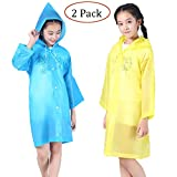 Raincoat Rain Poncho Jacket Slicker Outwear for Children[Thicker & Reusable & Lightweight]Emergency Rain&Wind Coat Cloak Wear for 6-12 Y/O. Boys&Girls for Disney World, Cool Christmas Gift for Kids